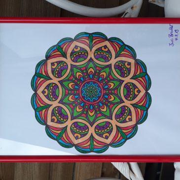 Malen: Mandalas mit Rahmen